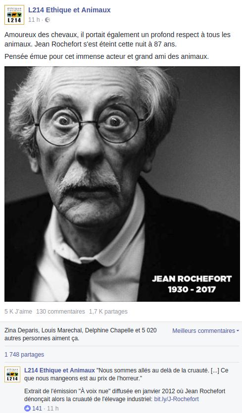 """L214 fait de l'éleveur Jean Rochefort un """"défenseur des animaux"""""""