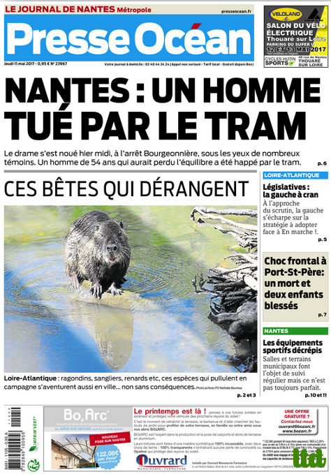 Presse Océan participe à la propagande anti-ragondins