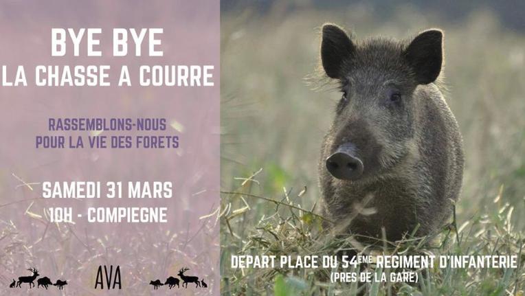 Le rendez-vous du 31 mars 2018 à Compiègne contre la chasse à courre