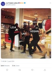 Les Produits Laitiers, Twitter