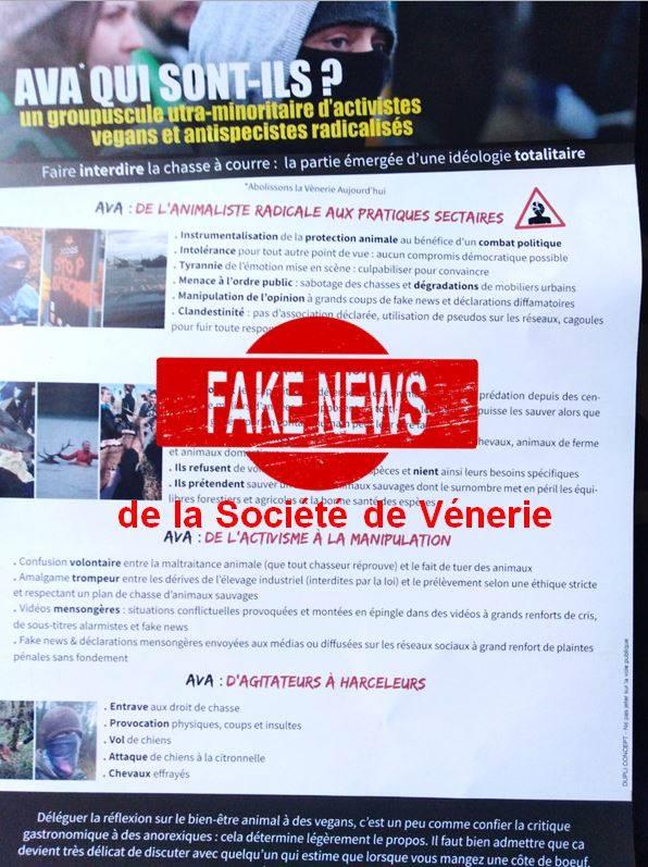 Fake news de la Société de Vénerie