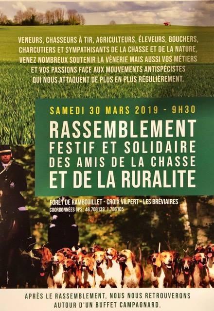 « Rassemblement festif et solidaire des amis de la chasse et de la ruralité »