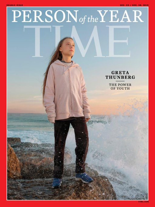 Greta Thunberg «personnalité de l'année» du Time