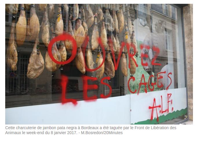 Bordeaux : inscription de l'ALF sur une devanture