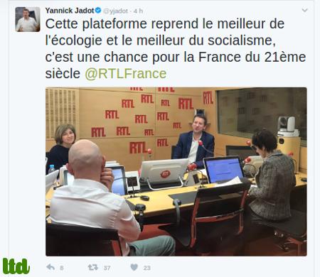 L'accord Yannick Jadot - Benoît Hamon