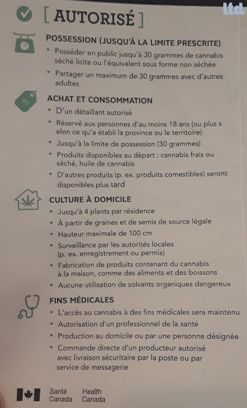Le projet de loi de légalisation du cannabis au Canada
