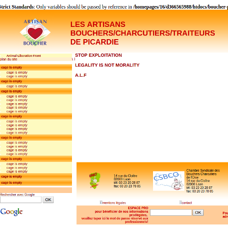"""""""Boucher-picard.org"""" hacké par l'ALF"""
