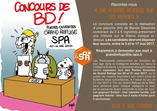 Concours de BD du grand refuge de la SPA de Pervenchères