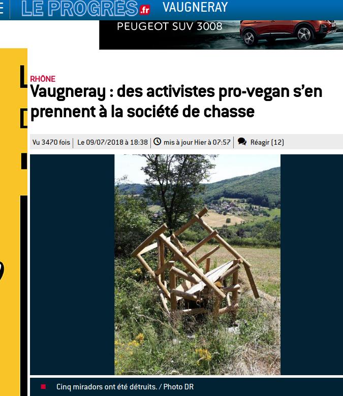 Action de l'ALF à Vaugneray en Auvergne-Rhône-Alpes