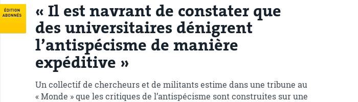 Tribune (Le Monde)
