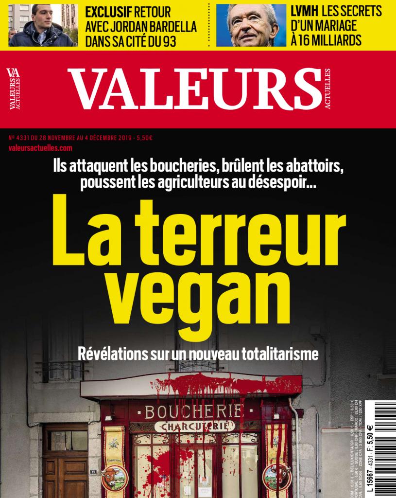 Valeurs Actuelles et «la terreur vegan»